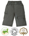 Boys Shorts Charcoal Grey Roll Up Legs