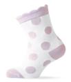 Melton Organic Cotton Girls Pink Polka Dot Socks