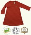 Baby Girls Long Sleeve Red Stripe Cotton Dress