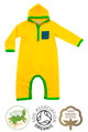 Harry Hood Boys Yellow Hoodie Baby Grow