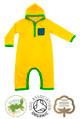Harry Hood Boys Yellow Hoodie Baby Grow