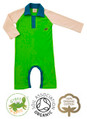 Rupert Raglan Green Boys Baby Grow