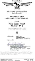 Great Lakes by WACO Airplane Flight Manual