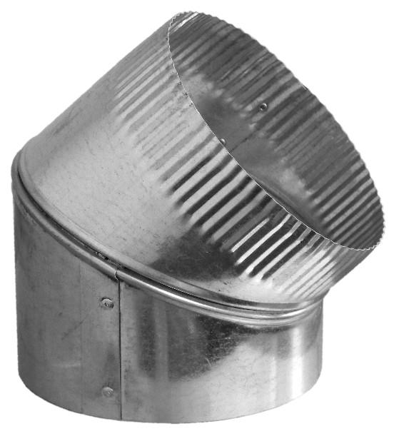 Degree sheet metal duct adjustable elbow