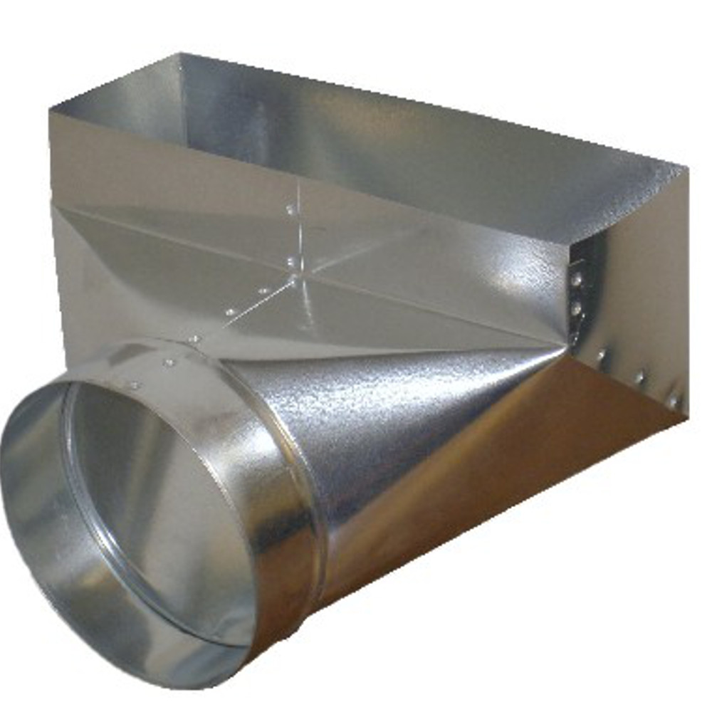 Duct register boot sheet metal vent for 12x6 floor register