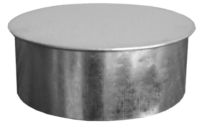 24 Inch Round Duct Cap 26 Gauge Galvanized Sheet Metal