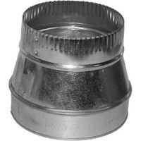 "8"" to 6"" Sheet metal HVAC Duct Reducer for flexible or metal HVAC Ducts and air vents."