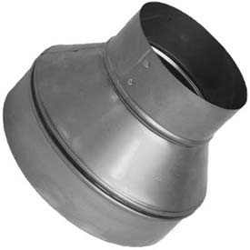 """12"""" to 10"""" Sheet metal HVAC Duct Reducer for flexible or metal HVAC Ducts and air vents."""