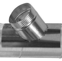 round saddle taps are used to branch one round sheet metal duct off another