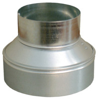 16x12 Round Duct Reducer for HVAC