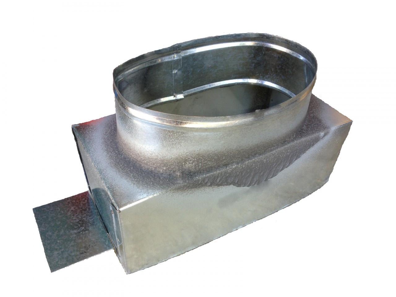 X rectangular sheet metal register can duct fitting