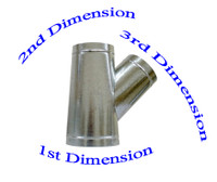 """10"""" x 8"""" x 4"""" Duct Wye Branch HVAC Ductwork AC Duct Fittings"""