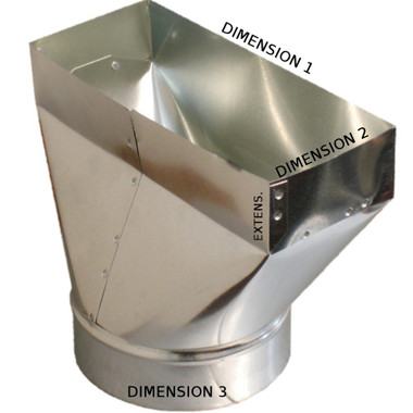 8x6x6 PH1 Duct Register Boot
