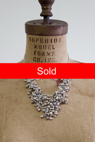 Handcrafted Jewelry | silver pearl cluster necklace