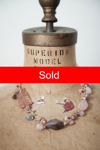 Handcrafted Jewelry | mixed chunky stone necklace