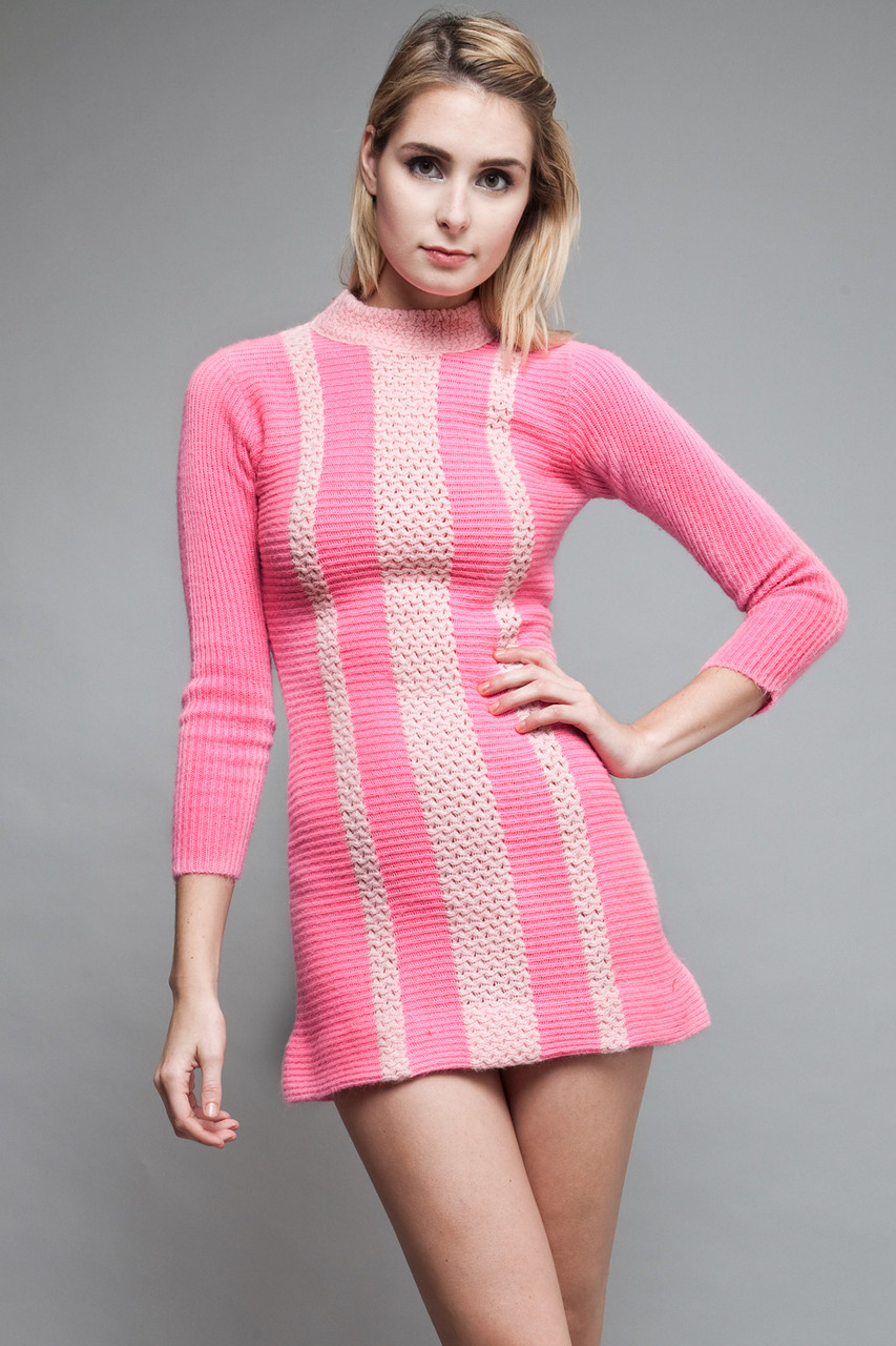 Pink Sweater Dress | Cocktail Dresses 2016