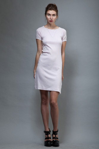 vintage 70s Pierre Balmain day dress pale purple logo XS S