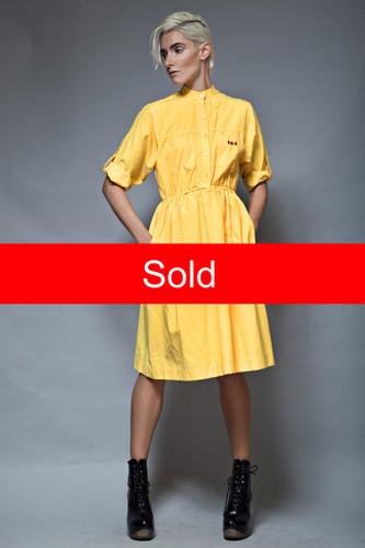 cotton shirt dress pocket dress vintage 70s John Henry Petites ONE SIZE  :