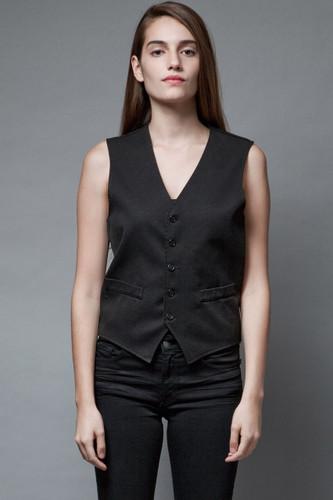 vintage black vest simple minimalist tuxedo vest S M
