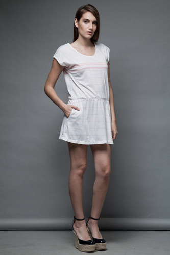 vintage tennis dress sporty mini dress Fred Perry white pink S M