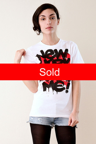 NY Loves Me Cotton Tee L