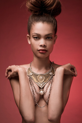 armor statement necklace tribal chain metal bib necklace pearl beads
