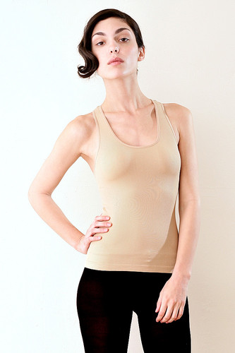 NUDE Skinny Fit Ultra Stretchy Ribbed Tank XS S M L