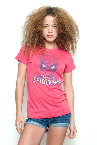 "Junkfood Vintage T-shirt 50/50 The Amazing Spider Man Red XL (18"" Width)"