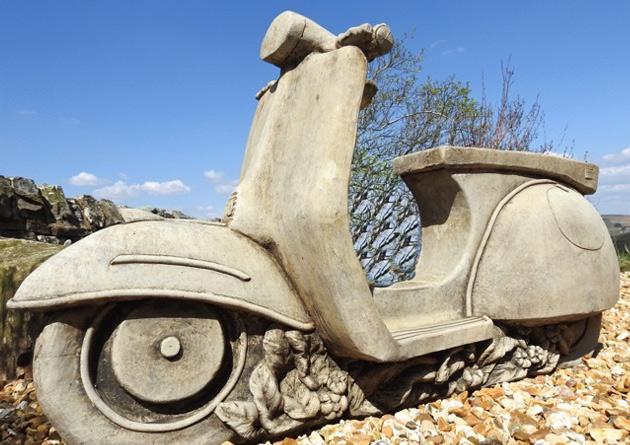 Lambretta Vespa Hand Made Garden Statue