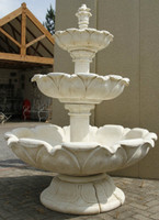 Huge White Stone Cast Water Fountain garden feature