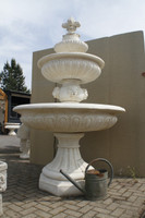 stone cast water fountain