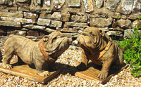 Hand Made British Bull Dogs from Discount Garden Statues
