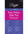 Diane Fine Nylon Hair Nets Medium Brown 3 pack