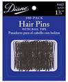 """Diane HAIR PINS 1-3/4"""" Black 100PK CARD"""
