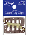 Diane Large Wig Clips Brown 2 PK