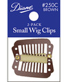 Diane Small Wig Clips Brown 2 PK