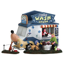 Lemax Village Collection Wally's Pet Wash Wagon, Set Of 3 #63279