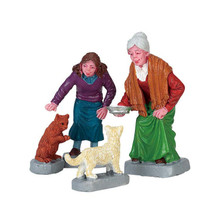 Lemax Village Collection Cream For Kitty, Set Of 4 #72497