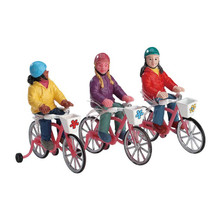 Lemax Village Collection Bike Ride, Set Of 3 #72502