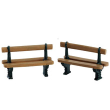 Lemax Village Collection Double Seated Bench, Set Of 2 #74235