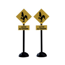 Lemax Village Collection Elf Crossing Sign, Set Of 2 #74238