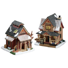 Lemax Village Collection Sugartree Maple Farm, Set Of 2 #75207