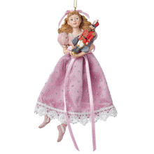 Kurt Adler 6in Nutcracker Ballet Clara Ornament #C7174