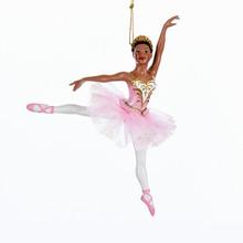 Kurt Adler 6.25in African American Ballerina Ornament #C7976