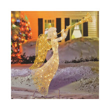 4ft Lighted Trumpeting Angel