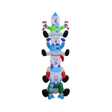 8ft Stacked Snowmen Inflatable