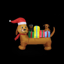 6ft Dog with Gifts Inflatable