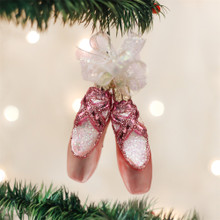 Old World Christmas Pair Of Ballet Slippers Ornament #32030