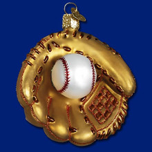 Old World Christmas Baseball Mitt Ornament #44027