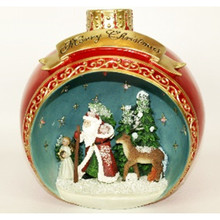 Scene of St Nicholas Ball Ornament Tabletop